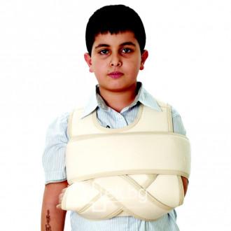 Раменен бандаж от затопляща еластична материя - детски Variteks 304