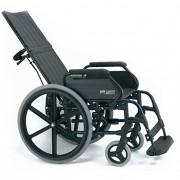 Инвалидна количка твърда седалка и облегалка повдигащи се стъпенки Breezy 121
