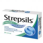 Стрепсилс - ментол и евкалипт