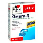 Doppel herz Omega 3 + Фолиева к-на + В 6 + В 12 x 60 капс.