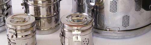 Барабани, вани и кутии за стерилизация